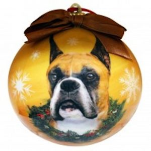 Boxer (Cropped) Christmas Ornament