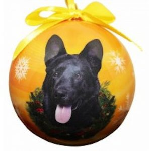 German Shepherd (Black) Christmas Ornament