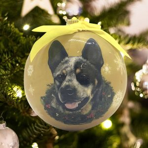 Personalized Australian Cattle Dog Christmas Ornament