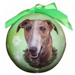 Greyhound (Brindle) Christmas Ornament