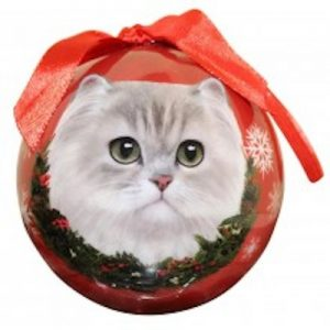Persian Cat (White) Christmas Ornament
