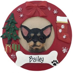 Chihuahua (Black) Christmas Ornament