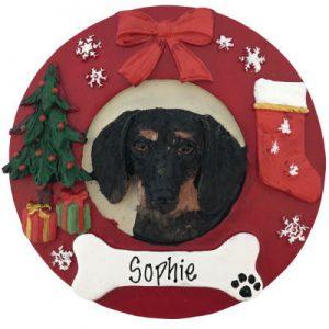 Dachshund (Black) Christmas Ornament