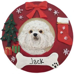 Bichon Frise Christmas Ornament
