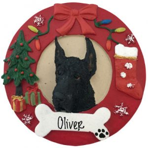 Great Dane (Black) Christmas Ornament