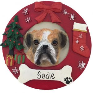 Boxer (Uncropped) Christmas Ornament