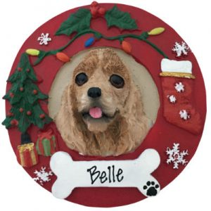 Cocker Spaniel (Buff) Christmas Ornament