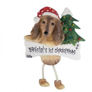 Dachshund (Longhaired) Christmas Ornament