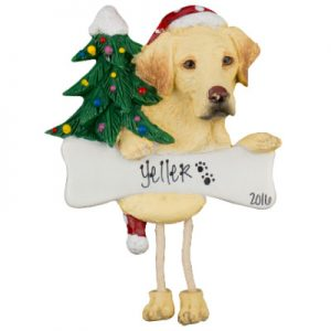 Labrador (Yellow) Christmas Ornament