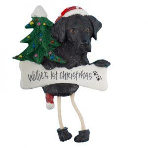 Labrador (Black) Personalized Christmas Ornament