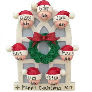 Christmas Window Family of 7 Christmas Ornament