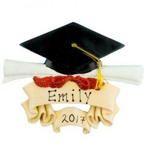 Graduation Cap and Scroll Christmas Ornament