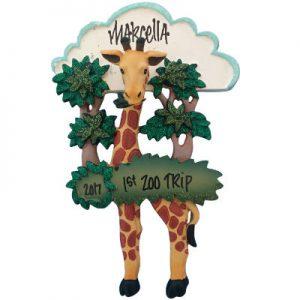 Giraffe In Trees Christmas Ornament