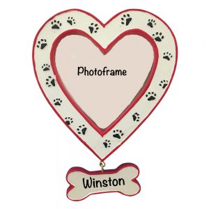 Pet Heart Photo Frame Personalized Ornament