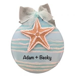 Starfish Beach Personalized Christmas Ornament