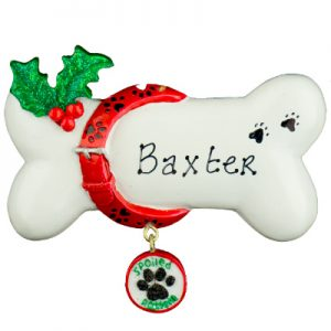 Spoiled Rotten White Bone Personalized Christmas Ornament