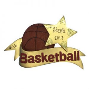 Basketball Star Personalized Christmas Ornament