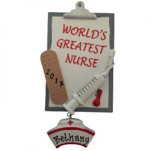 World's Greatest Nurse Clipboard Christmas Ornament