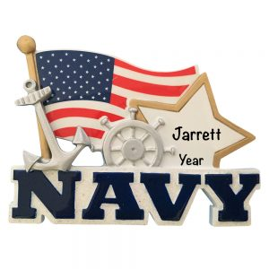 U.S. Navy Personalized Christmas Ornament