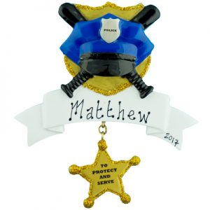 Police Personalized Christmas Ornament