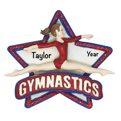 Gymnastics Star Personalized Christmas Ornament
