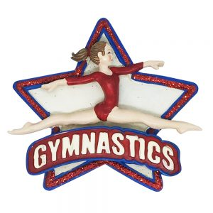 Gymnastics Star Personalized Christmas Ornament - Blank