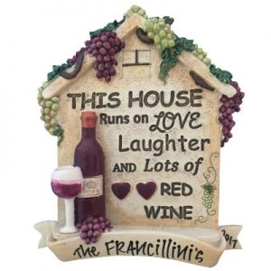 Wine - Laughter and Red Wine Christmas Ornament