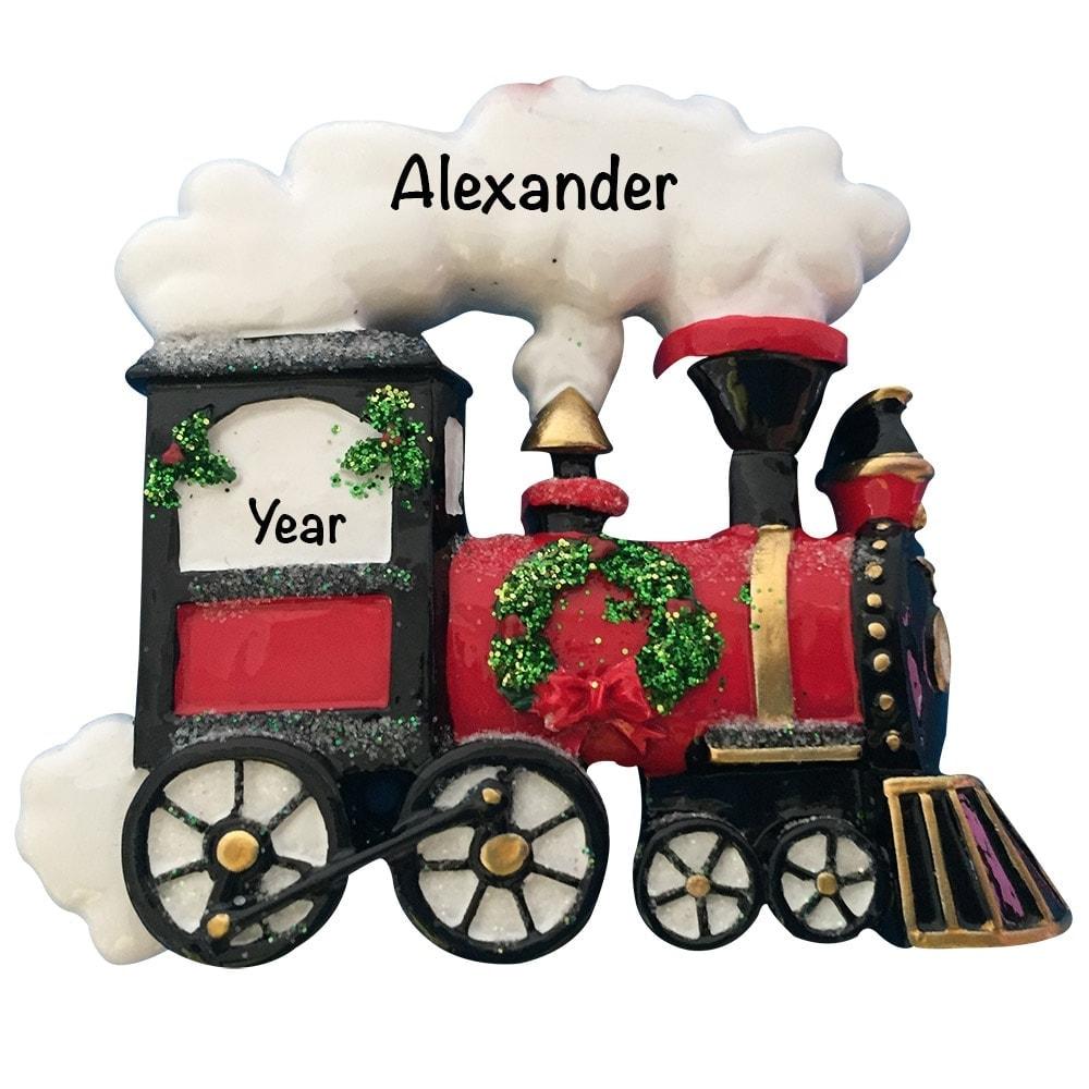 Holiday Train Personalized Ornament - Free Personalization