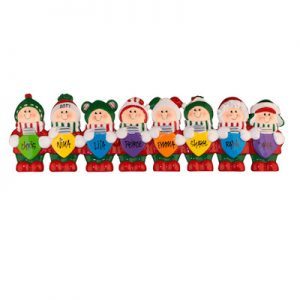 Christmas Light Elves Table Top Family of 8 Christmas Ornament