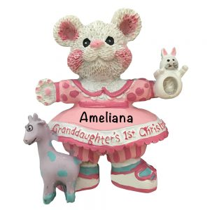Granddaughter's 1st Christmas Personalized Christmas Ornament