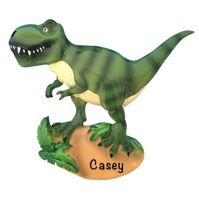T-Rex Dinosaur Personalized Christmas Ornament