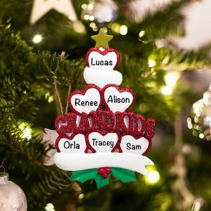 Personalized Grandkids 6 Christmas Ornament