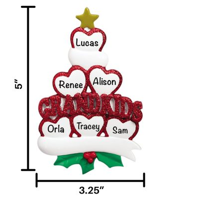 Six Grandkids Personalized Christmas Ornament