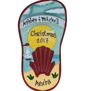 Sandal (Red) Personalized Christmas Ornament