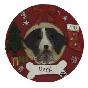 German Shorthair Pointer Christmas Wreath Personalized Christmas Ornament