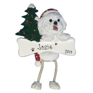 Bichon Frise Personalized Christmas Ornament