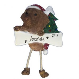 Viszla Personalized Christmas Ornament