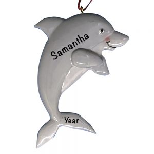 Dolphin Personalized Christmas Ornament