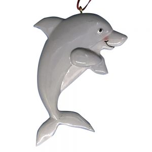Dolphin Personalized Christmas Ornament - Blank
