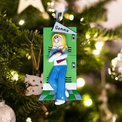 Personalized Teenage College Schoolgirl Christmas Ornament