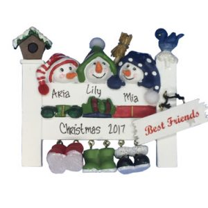 3 Best Friends Personalized Christmas Ornament