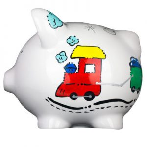 Train Mini Piggy Bank