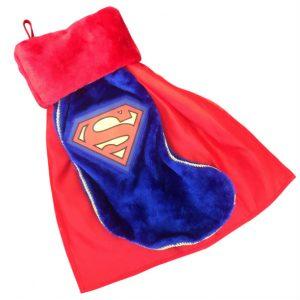 Superman Logo Plush Christmas Stocking