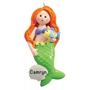 Mermaid Personalized Christmas Ornament