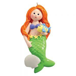 Mermaid Personalized Christmas Ornament - Blank