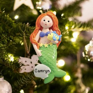 Personalized Mermaid Christmas Ornament