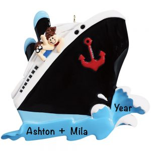 Cruise Couple Personalized Christmas Ornament