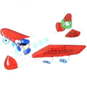 Airplane Personalized Ornament