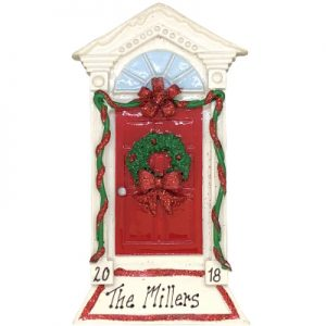 Red Bow Door Personalized Ornament