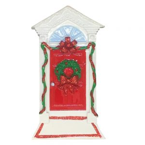 Red Christmas Door Personalized Christmas Ornament - Blank